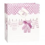 Grand sac cadeau rose - Vêtement bébé