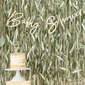 Guirlande Baby Shower en bois Végétal (2m)