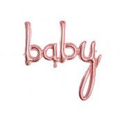Guirlande Ballon Mylar Aluminium Baby Rose Gold