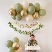 Guirlande de ballons Vert Eucalyptus (x20)