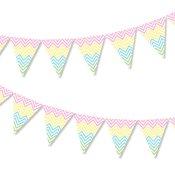 Guirlande Fanions Chevrons Pastel Multicolore