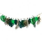 Guirlande Feuilles Tropicales Or & Vert