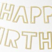 Guirlande Lettre Or Happy Birthday
