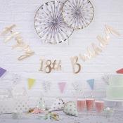 Guirlande or Happy Birthday 18 ans