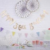 Guirlande or Happy Birthday 30 ans