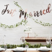 Guirlande Rose Gold Just Married