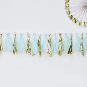Guirlande Tassel Bleu & Or