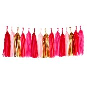 Guirlande Tassel Rose et Or