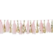 Guirlande Tassel Rose & Or