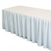 Jupe de table en plastique Blanc