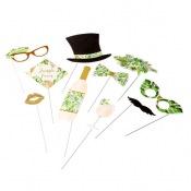 Kit 10 Accéssoires Photobooth Tropical