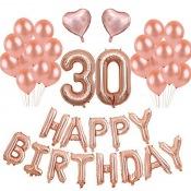 Kit Anniversaire 30 ans Ballons Rose Gold (x25)