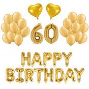 Kit Anniversaire Ballons 60 ans Or (x21)