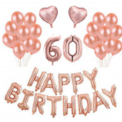 Kit Anniversaire Ballons 60 ans Rose Gold (x21)