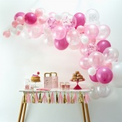 Kit Arche 60 Ballons Rose & Blanc