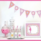 Kit Candy Bar Baby Shower Femme Enceinte