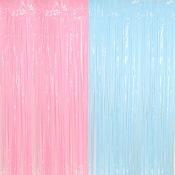 Kit Décoration Gender Reveal Rideau Bleu & Rose
