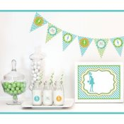Kit DIY Baby Shower Femme Enceinte Vert