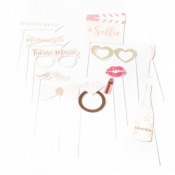 Kit Photobooth EVJF Future Mariée Rose Gold (x12)