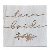 Livre d'Or en bois Team Bride
