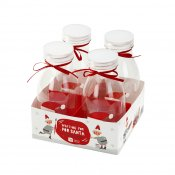 Mini-bouteilles Noël (x4)