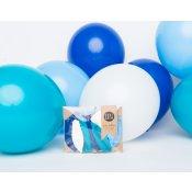 Mix 12 Mini Ballons de Baudruche Bleu