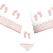 Nappe en plastique Baby Shower Pieds Fille