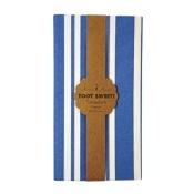 Nappe Papier Rectangulaire Rayure Bleu