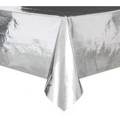 Nappe plastique rectangle Argent métallisé