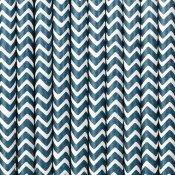 Pailles de Fête en papier Chevron Bleu Marine (x20)