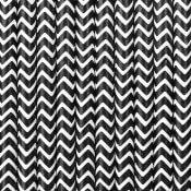 Pailles de fête en papier Chevron Noir (x20)
