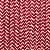 Pailles de fête en papier Chevron Rouge (x20)