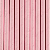 Pailles en papier rose uni (x20)