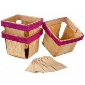 Paniers en bois (x3)