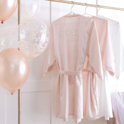 Peignoir EVJF  Bride To Be  Satin Rose Pastel - TU