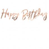 Petite Guirlande Happy Birthday Rose Gold