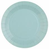 Petites Assiettes en carton Bleu Bleuet (x6)