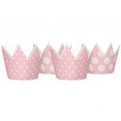 Petites Couronnes en carton Rose Enfant (x4)