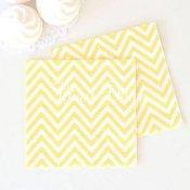 Petites Serviettes en papier Chevron Jaune (x20)