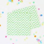 Petites Serviettes en papier Chevron Vert Pastel (x20)