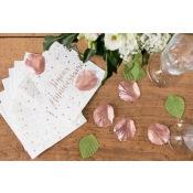 Petites Serviettes papier Joyeux Anniversaire Rose Gold (x20)