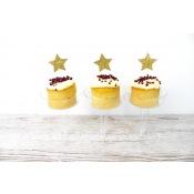 Pics à Cupcake Licorne Or Pailleté (x12)