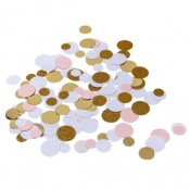 Poche Confettis de table Rose & Or