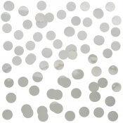Poche de confettis de table Rond Argent Métallisé