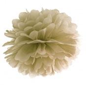 Pompon Fleur de Papier en soie à suspendre Or Brillant