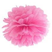 Pompon Fleur de Papier en soie à suspendre Rose