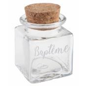 Pot Carré Baptême Transparent