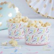 Pots à glace Confettis multicolore (x8)