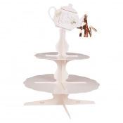 Présentoir à Cupcake Pois Rose Gold 3 étages
