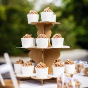 Présentoir à gâteau 3 étages en carton Kraft